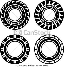 Tire clipart tractor tyre