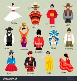 Traditional clipart national costume