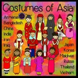 Traditional Costume clipart asia