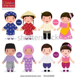 Vietnam clipart traditional costume