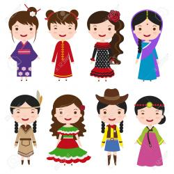 Traditional Costume clipart international child