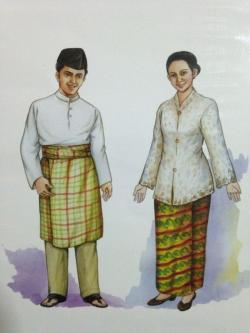 Traditional Costume clipart malay person