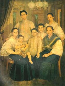 Philipines clipart happy filipino family