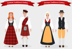 Traditional Costume clipart scottish