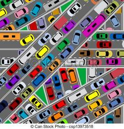 Freeway clipart city traffic
