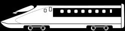Train clipart bullet train