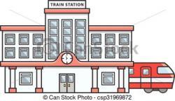 Railway Station clipart railroad station