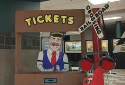 Train Station clipart ticket booth