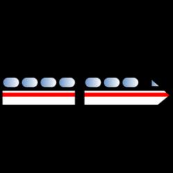 Tram clipart electric train
