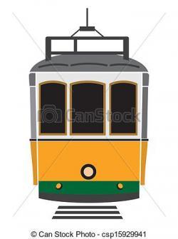 Tram clipart lisbon