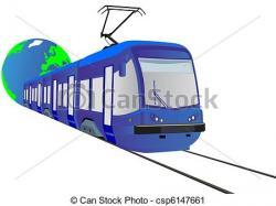 Tram clipart rail transport