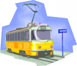 Tram clipart trolley bus