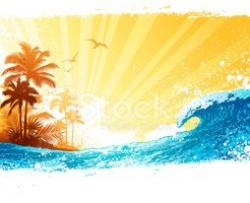 Tranquil clipart island background
