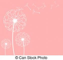 Dandelion clipart pink dandelion
