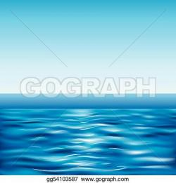 Tranquil clipart sea view