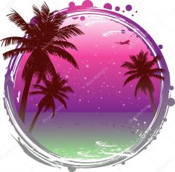 Tranquil clipart tropical background