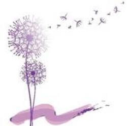 Tranquil clipart pink dandelion