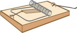 Trapped clipart mouse trap