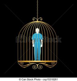Trapped clipart cage