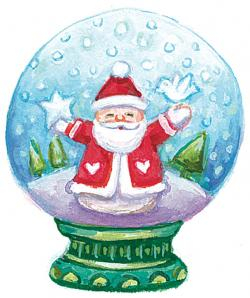 Trapped clipart christmas snow globes