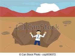 Trapped clipart pit hole