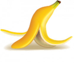 Trash clipart banana