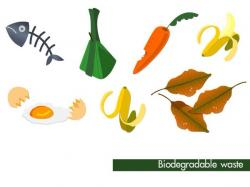 Trash clipart biodegradable material