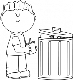 Trash clipart black and white