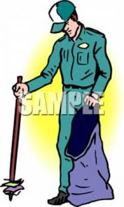 Litter clipart person