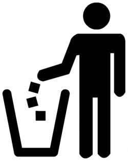 Litter clipart tidy