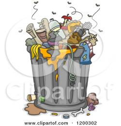 Trash clipart pile trash