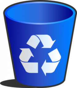 Trash clipart recycle bin