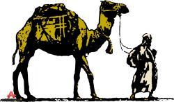 Camels clipart arabian person