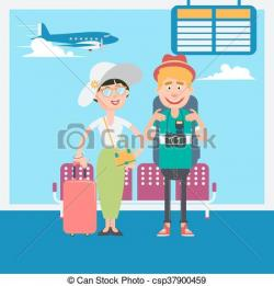 Airport clipart vacation