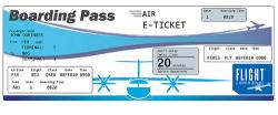 Departure clipart plane ticket