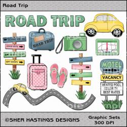 Caravan clipart road trip