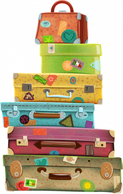 Suitcase clipart old school