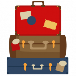 Suitcase clipart stacked