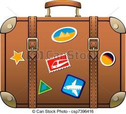 Suitcase clipart illustration