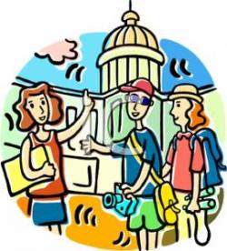 Landmark clipart tour guide