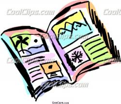 Travel clipart travel brochure