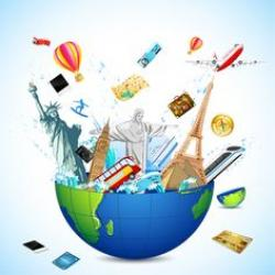 Travel clipart world tour