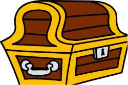 Silver clipart treasure chest