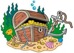 Seaweed clipart treasure chest