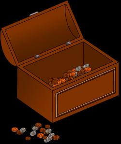Simple clipart treasure chest