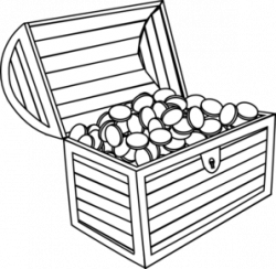 Treasure clipart black and white