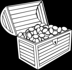 Treasure clipart black and white