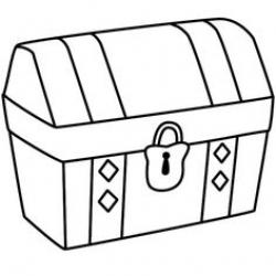 Chest clipart black and white