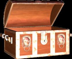 Trunk clipart open treasure chest
