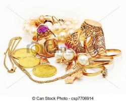 Treasure clipart gold jewelry